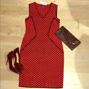 Red & Black N X D brand slimming dress